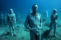 Ожившие статуи на дне Атлантики