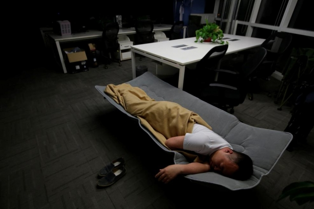 Спящие на работе