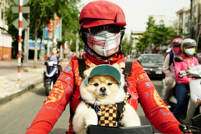 Белокожие вьетнамки намопедах