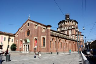 Церковь Санта-Мария-делла-Грацие c фреской Леонардо да Винчи