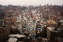 Граффити-пазл из 50 зданий
